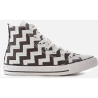Converse Women's Chuck Taylor All Star Glam Dunk Hi-Top Trainers - White/Black/White - UK 6 - Multi