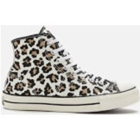 Converse Archive Print Lucky Star Hi-Top Trainers - Driftwood/Light Fawn/Black - UK 11 - Brown