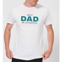 Image of Best Dad In Liverpool Men's T-Shirt - White - M - White