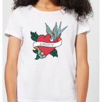Daddy Heart Women's T-Shirt - White - L - White