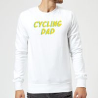 Cycling Dad Sweatshirt - White - L - White - Cycling Gifts