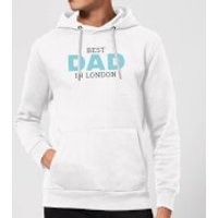 Best Dad In London Hoodie - White - M - White