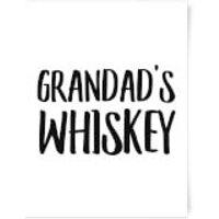 Grandad's Whiskey Art Print - A4 - No Hanger