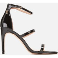 Kurt Geiger London Kurt Geiger London Women's Park Lane Patent Triple Strap Heeled Sandals - Black - UK 3