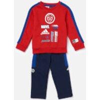 adidas Boys' Infant Spider-Man Jogger Set - Red/Blue - 18-24 months