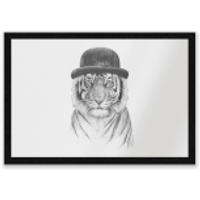 Tiger In A Hat Entrance Mat - Tiger Gifts