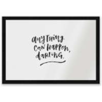 Anything Can Happen, Darling. Entrance Mat - Anything Gifts