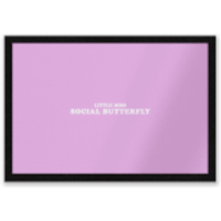 Little Miss Social Butterfly Entrance Mat - Little Miss Gifts