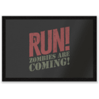 RUN! Zombies Are Coming! Entrance Mat - Zombies Gifts