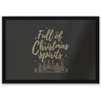 Full Of Christmas Spirits Entrance Mat - Spirits Gifts