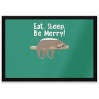 Eat, Sleep, Be Merry Entrance Mat - Sleep Gifts