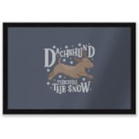 Dachshund Through The Snow Entrance Mat - Dachshund Gifts
