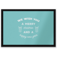 We Wish You A Merry Christmas And A Happy New Year Entrance Mat - Wish Gifts