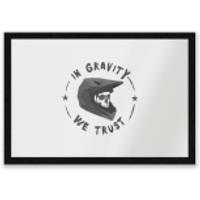 In Gravity We Trust BMX Entrance Mat - Bmx Gifts
