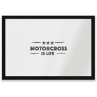 Motocross Is Life Entrance Mat - Motocross Gifts