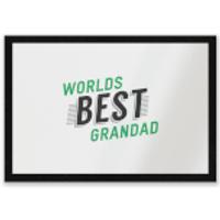 Worlds Best Grandad Entrance Mat - Grandad Gifts