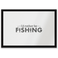 Id Rather Be Fishing Entrance Mat - Fishing Gifts