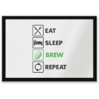 Eat Sleep Brew Repeat Entrance Mat - Sleep Gifts