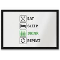 Eat Sleep Game Repeat Entrance Mat - Sleep Gifts