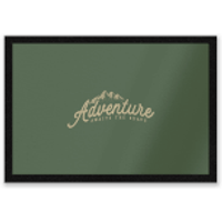 Adventure Awaits The Brave Entrance Mat - Adventure Gifts