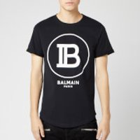 Balmain Men's T-Shirt with Large Coin Logo - Noir - XXL