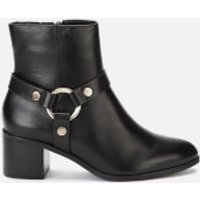 Dune Women's Pipkin Leather Heeled Ankle Boots - Black - UK 6 - Black