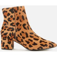 Dune Women's Omarii Leopard Print Heeled Ankle Boots - Dark Leopard - UK 5 - Tan