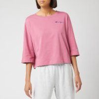 Champion Women's Back Script Oversized Cropped T-Shirt - Heather Rose - L