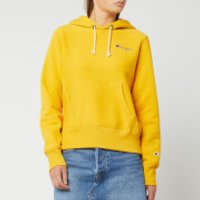 Champion Women's Small Script Hooded Sweatshirt - Golden Rod - S