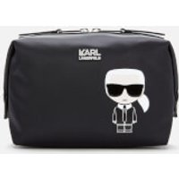 Karl Lagerfeld K/ikonik Wash Bag - Black