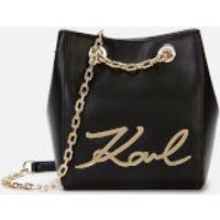Karl Lagerfeld K/signature Bucket Bag - Black/gold