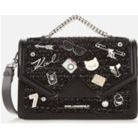 Karl Lagerfeld Womens K/Klassik Pins Shoulder Bag - Black