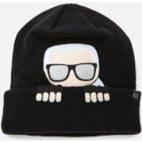 Karl Lagerfeld K/ikonik Beanie Hat - Black