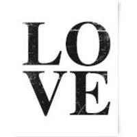 Love Textured Art Print - A4 - No Hanger