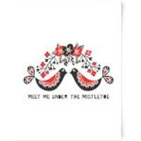 Meet Me Underneath The Mistletoe Art Print - A3 - Mistletoe Gifts