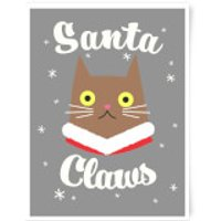 Santa Claws Art Print - A4 - No Hanger