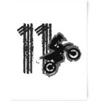 11 Motocross Art Print - A4