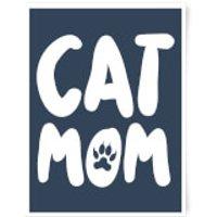 Cat Mom Art Print - A3 - Black Frame
