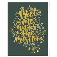 Meet Me Under The Mistletoe Art Print - A3 - Mistletoe Gifts