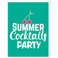 Summer Cocktails Party Art Print - A3 - Summer Gifts