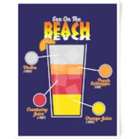 Infographic Sex On The Beach Art Print - A3 - Sex Gifts