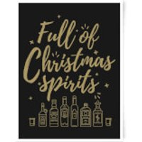 Full Of Christmas Spirits Art Print - A3 - Spirits Gifts