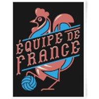 Equipe De France Art Print - A3 - France Gifts