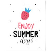 Enjoy Summer Days Art Print - A3 - Summer Gifts