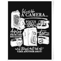 Life Is Like A Camera Art Print - A3 - Life Gifts
