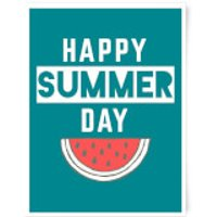 Happy SUmmer Day Art Print - A3 - Summer Gifts