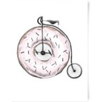 Donut Ride My Bicycle Art Print - A3 - Bicycle Gifts