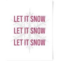 Let It Snow Art Print - A4
