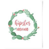 Hipster Mum Art Print - A3 - Hipster Gifts