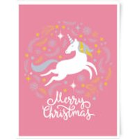 Unicorn Christmas Body Art Print - A4